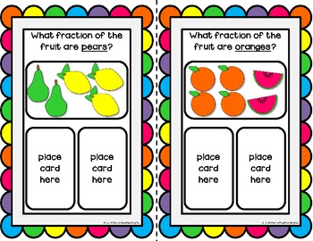 Fruity Fraction Fun Activities and Printables {halves - sixths}