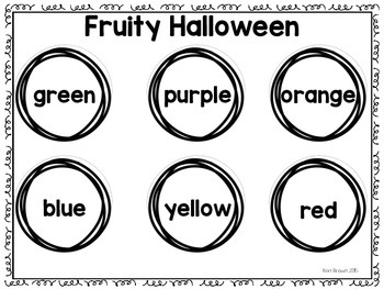 Fruity Halloween Graphing