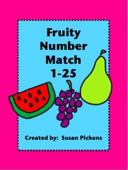 Fruity Number Match 1-25