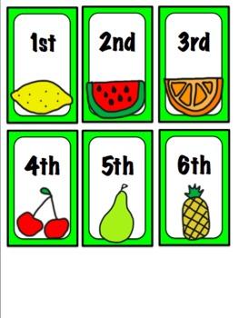 Fruity Ordinal Number Match 1-12