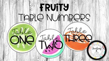 Fruity Table Numbers