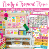 Fruity & Tropical Theme Classroom Decor Pack