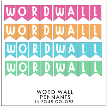 Fruity & Tropical Theme Word Wall Pendants & Letters