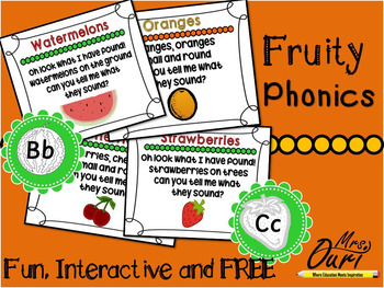Fruity phonics (daily revision of letter sound)