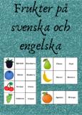 Frukter på svenska och engelska