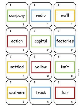 Fruno #10 Sight Word Game