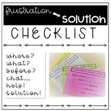 Frustration to Solution Checklist