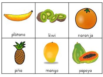 Frutas Escribiendo alrededor del salón