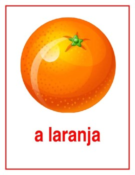 Frutas (Fruits in Portuguese) Posters