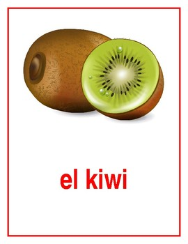 Frutas (Fruits in Spanish) Posters