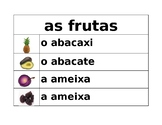 Frutas e Legumes (Fruits and Vegetables in Portuguese) Word Wall