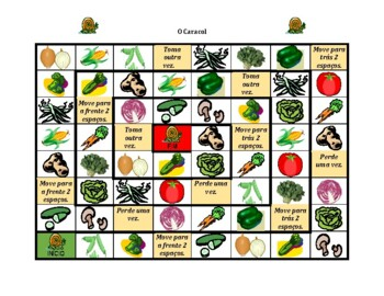 Frutas e verduras (Fruits and Vegetables in Portuguese) Caracol Snail game