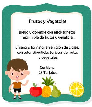 Frutas y Vegetales: Tarjetas lúdicas