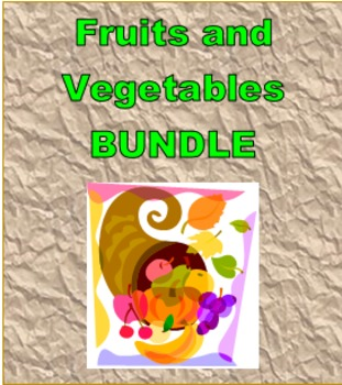 Frutas y Verduras (Fruits and Vegetables in Spanish) Bundle