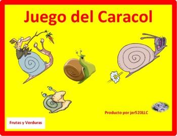 Frutas y Verduras (Fruits & Vegetables in Spanish) Caracol Snail game