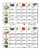 Frutas y Verduras (Fruits and Vegetables in Spanish) Grid vocabulary activity