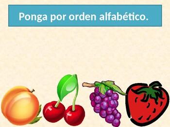 Frutas y Verduras (Fruits & vegetables in Spanish) power point