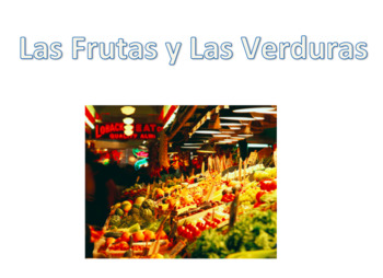 Frutas y Verduras Vocabulary List & PowerPoint