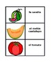 Frutas y verduras (Fruits and Vegetables in Spanish) Concentration games