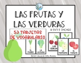 Frutas y verduras tarjetas de vocabulario - Fruits and veg