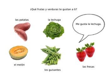 Frutas y verduras unit (PowerPoint)