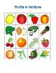 Frutta e Verdura (Fruits and Vegetables in Italian) Bingo game