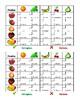 Frutta e Verdura (Fruits and Vegetables in Italian) Grid vocabulary activity