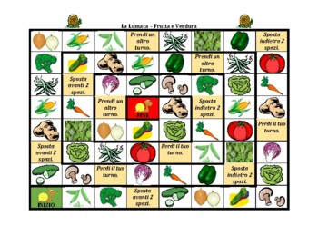 Frutta e Verdura (Fruits and Vegetables in Italian) Lumaca Snail Game