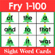 Fry 1-100 Sight Word Cards Holiday Bundle