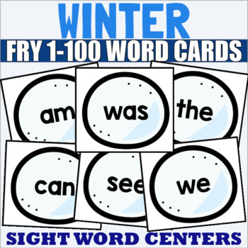 Fry 1-100 Sight Word Cards Winter