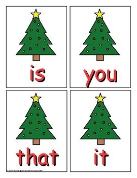 Fry 1-100 Sight Word Game Christmas Edition