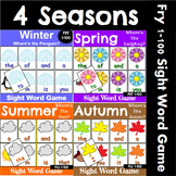 Fry 1-100 Sight Word Recognition Games for All Seasons