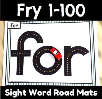 Fry 1-100 Sight Word Road Mats
