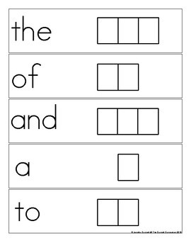 Fry 1-100 Sight Word Spelling Cards