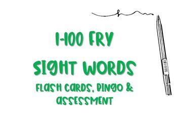 Fry 1-100 Sight Words: Flash Cards, Bingo & Assessment Tracker