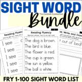 Fry 1-100 Sight Words Fluency Bundle