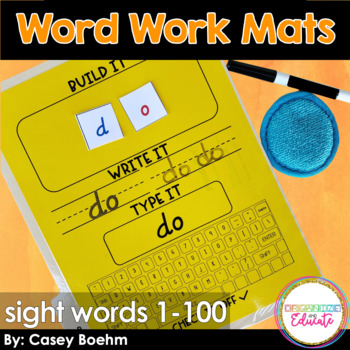 Fry 1-100 Word Work Mats AND Edtiable Mats