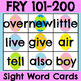 Fry 1-300 Sight Word Cards Easter Bundle