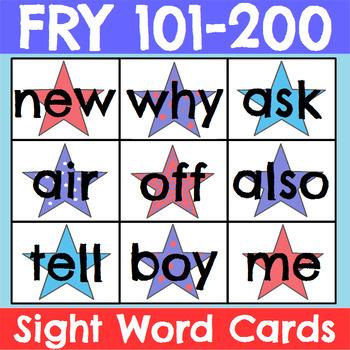 Fry 1-300 Sight Word Cards Patriotic Bundle