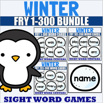 Fry 1-300 Sight Word Cards Winter