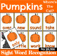 Fry 1-300 Sight Word Recognition Game with Pumpkins