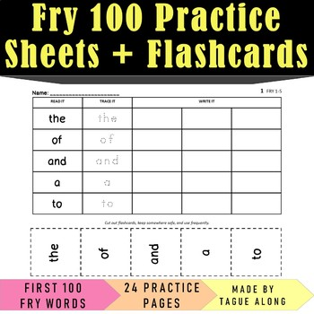 Fry 100 Sight Word Practice