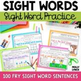 Fry 100 Sight Word Sentence Cut Aparts