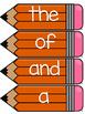 Fry 100 Word Wall Sight Word Cards- Orange