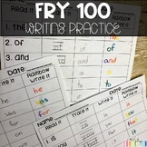 Fry 100 Sight Words Writing Practice