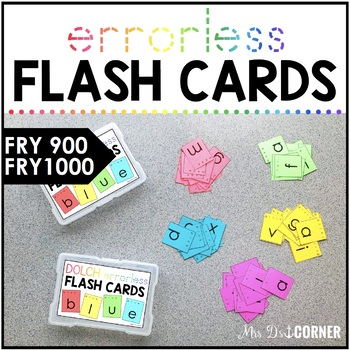 Fry 1000 Errorless Flash Cards   Spelling Task Box for Fry Words   Fry 900 -1000