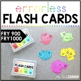 Fry 1000 Errorless Flash Cards | Spelling Task Box for Fry