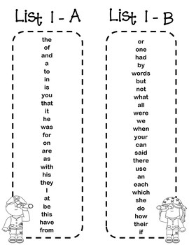 Fry 1000 Sight Words and Bookmarks - Pirates