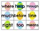 Fry 101-200 Sight Word Cards Easter