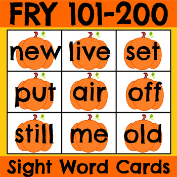 Fry 101-200 Sight Word Cards Holiday Bundle